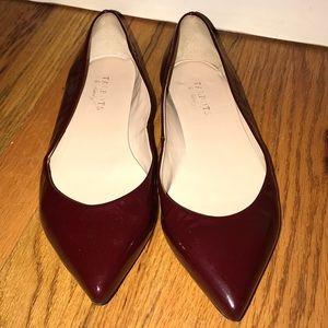 TALBOTS Burgundy Patent Leather Flats 9B